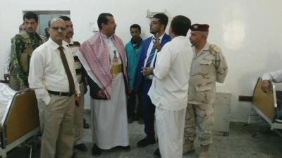 """وكيل وزارة الصحة """" الحيدري """"  يتفقد سير العمل بمستشفى مارب"""