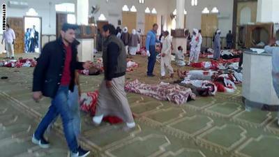 إرتفاع حصيلة مجزرة داخل مسجد إلى 235 قتيلا بهجوم في شمال سيناء