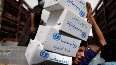 اليونيسف : 11 مليون طفل في اليمن بحاجة للمساعدة والإمدادات التي وصلت غير كافية
