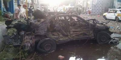 شاهد صور وتفاصيل جديدة لمبنى وزارة المالية الذي إستهدفته سياره مفخخة في عدن