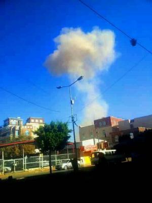 غارات جوية تستهدف العاصمة صنعاء ( صور)