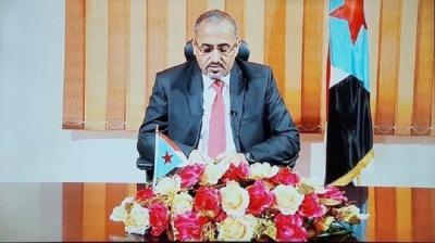 عيدروس الزبيدي يخاف على مجلسه الإنتقالي ويظهر تخوفه من التحالفات الجديدة ( الإصلاح والمؤتمر )