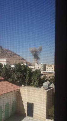 بالصور .. غارات جوية تستهدف العاصمة صنعاء