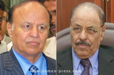 مصدر رئاسي يوضح  حقيقة خلاف هادي مع مستشاره ويؤكد.. اللواء محسن غادر اليمن قبل أيام