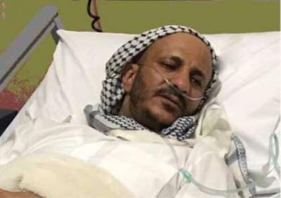 العميد طارق محمد عبدالله صالح يظهر في أولى صورة له وهو يتلقى العلاج
