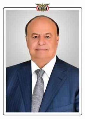 الرئيس هادي يطمئن على صحة رئيس هيئة الاركان