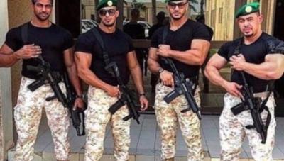 """بالصور .. هذه هي قوات كتيبة """" السيف الأجرب """" والتي القت القبض على عدداً من الأمراء تظاهروا أمام القصر الملكي بالسعودية"""