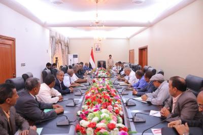 بن دغر يعقد اجتماعاً بقيادة وأعضاء السلطة المحلية بمحافظة الضالع ويصدر عدداً من التوجيهات