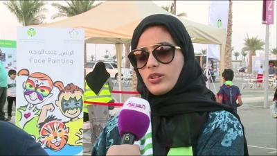 بالصور .. السعوديات يشجعن ويحضرن مباريات كرة القدم لأول مره في تاريخ السعودية