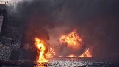 إيران تعلن مصرع كامل طاقم ناقلة النفط المنكوبة في بحر الصين الشرقي