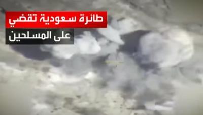 بالفيديو .. هكذا يتم رصد وإستهداف الحوثيين بالطيران على الحدود اليمنية السعودية