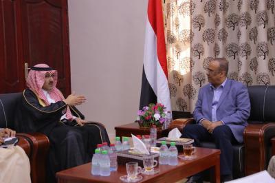 السفير السعودي يواصل لقاءاته في عدن ويلتقي وزير الداخلية ومحافظي المحافظات ومدراء الأمن