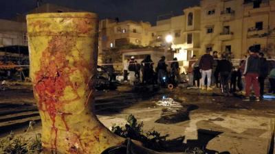 41 قتيلا بينهم مسؤول أمني رفيع في تفجيري بنغازي