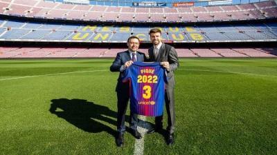 برشلونة يعلن رسميا تجديد عقد بيكيه