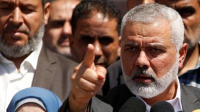"""واشنطن تدرج رئيس المكتب السياسي لحركة حماس """" هنية """" في قائمة عقوباتها ضد ( الإرهابيين)"""