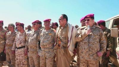 المقدشي يتفقد كتائب القوات الخاصة في مأرب