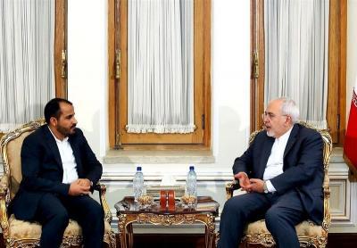 ناطق الحوثيين يلتقي وزير الخارجية الإيراني ( صوره)