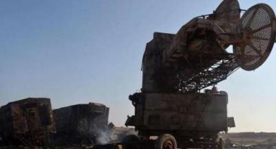 طيران التحالف يدمر منصة صواريخ قرب مطار الحديدة كانت تجهز لإطلاق صواريخ على المخا
