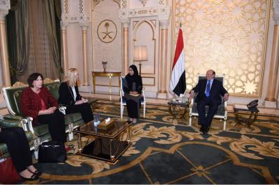 الرئيس هادي يستقبل وزيرة الخارجية الهولندية