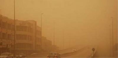 موجة غبار تضرب العاصمة صنعاء وتحذيرات للأطفال وكبار السن ومرضى الجهاز التنفسي( صورة )