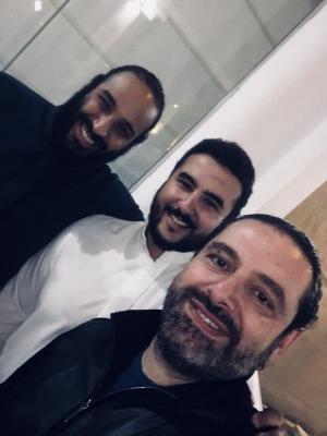 """رئيس الوزراء اللبناني سعد الحريري ينشر صورة """" سليفي """" تجمعة بولي العهد السعودي وسفير السعودية لدى واشنطن"""