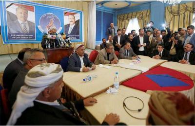 حزب المؤتمر بصنعاء يهاجم قيادات حزب المؤتمر المؤيدة للشرعية