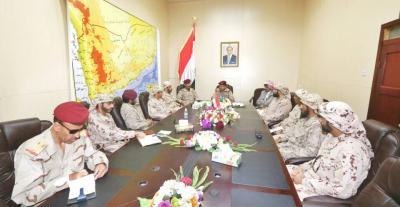 الفريق المقدشي يلتقي قيادة قوات التحالف بمأرب