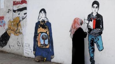 هيفاء سبيع .. فنانة تشكيلية يمنية تشكو للجدران مأساة شعبها