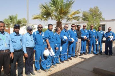 فريق شركة (او ام في )النمساوية يعود الى اليمن لاستئناف انتاج النفط في شبوة ( صوره)