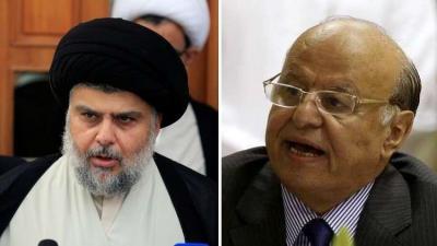 """الزعيم الشيعي """" مقتدى الصدر """" يهاجم الرئيس هادي !"""