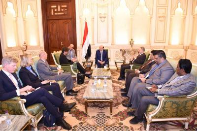 الرئيس هادي يستقبل وزيرة الدولة للشئون الخارجية السويدية