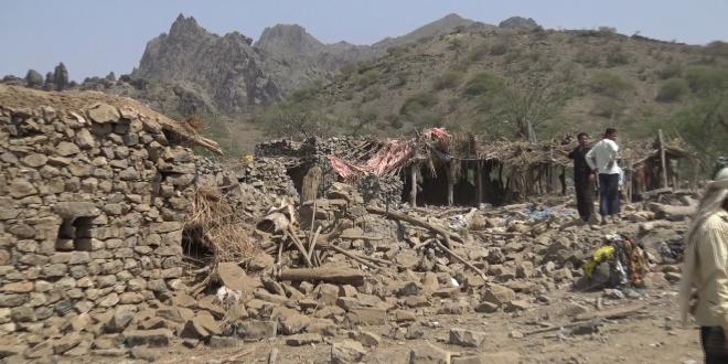 غارات جوية تستهدف مديرية بني سعد بمحافظة المحويت
