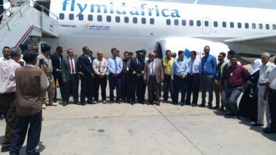 طيران الملكة بلقيس تدشن اولى رحلاتها الى عدن