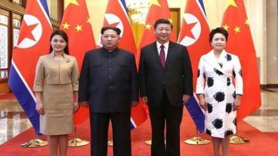 """الصين تعلق على زيارة زعيم كوريا الشمالية """" كيم """" وتقول بأنها لم تكن سرية"""