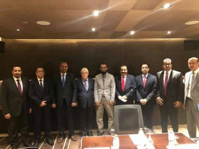 المبعوث الأممي إلى اليمن مارتن غريفيث يلتقي رئيس وأعضاء ما يسمى بالمجلس الإنتقالي الجنوبي ( صوره)