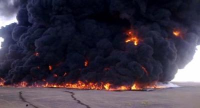 """الأجهزة الأمنية بمحافظة مأرب تتهم """" الظمن """" وآخرين بتفجير أنبوب النفط في نقطة كيلو 31"""