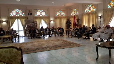 قيادات الأحزاب والمكونات السياسية تلتقي المبعوث الأممي إلى اليمن مارتن غريفيث