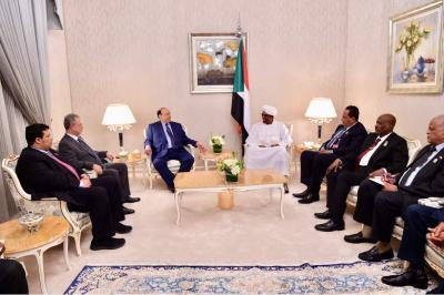 الرئيس هادي يستقبل الرئيس السوداني الفريق عمر حسن البشير