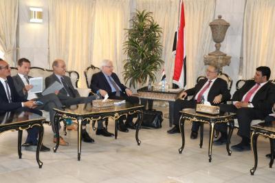 المخلافي يلتقي المبعوث الاممي إلى اليمن مارتن غريفيث