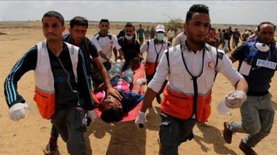 55 شهيدا فلسطينيا و2771 مصابا برصاص الجيش الإسرائيلي قرب حدود غزة
