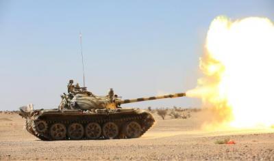 قتلى وجرحى من الحوثيين في معارك عنيفة مع الجيش الوطني بصرواح
