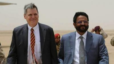 شاهد صور من وصول السفير الأمريكي لدى اليمن إلى مأرب