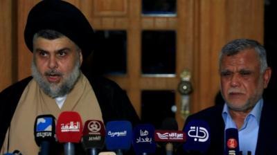 الصدر والعامري يعلنان تحالفا لتشكيل الحكومة العراقية ويرفضان المحاصصة