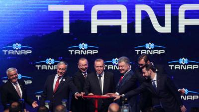 """أردوغان يدشن """"طريق الحرير"""" للطاقة"""
