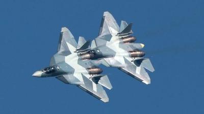 طلاء روسي فريد لإخفاء المقاتلات الفتاكة سو 57