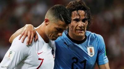 الأوروغواي يهزم البرتغال .. ورونالدو يلحق بميسي