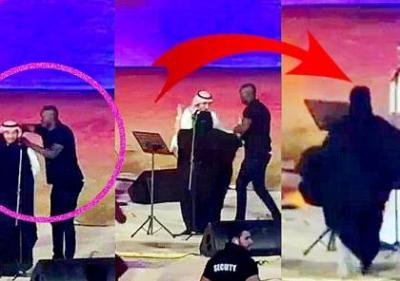 فتاه سعودية تقتحم خشبة المسرح وتحضن الفنان ماجد المهندس .. وهذه هي العقوبة التي تنتظرها ( صوره)