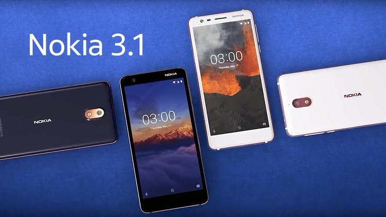 """أبرز مواصفات """"Nokia 3.1"""" الجديد"""