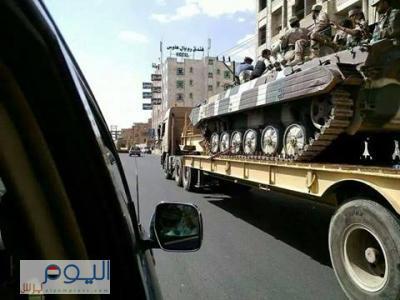 """تعزيزات عسكرية تتجه صوب عمران لمساندة اللواء 310 من مقر """" الفرقة سابقا"""" ، وانباء عن  خروج لواءين من قوات الإحتياط إلى عمران ( صور)"""