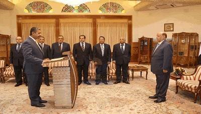 نائبا رئيس الوزراء والوزراء الجدد يؤدون اليمين الدستورية أمام رئيس الجمهورية